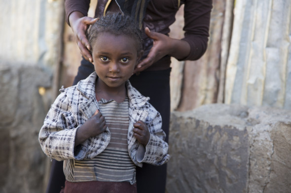 Young girl in Sheno, Ethiopia