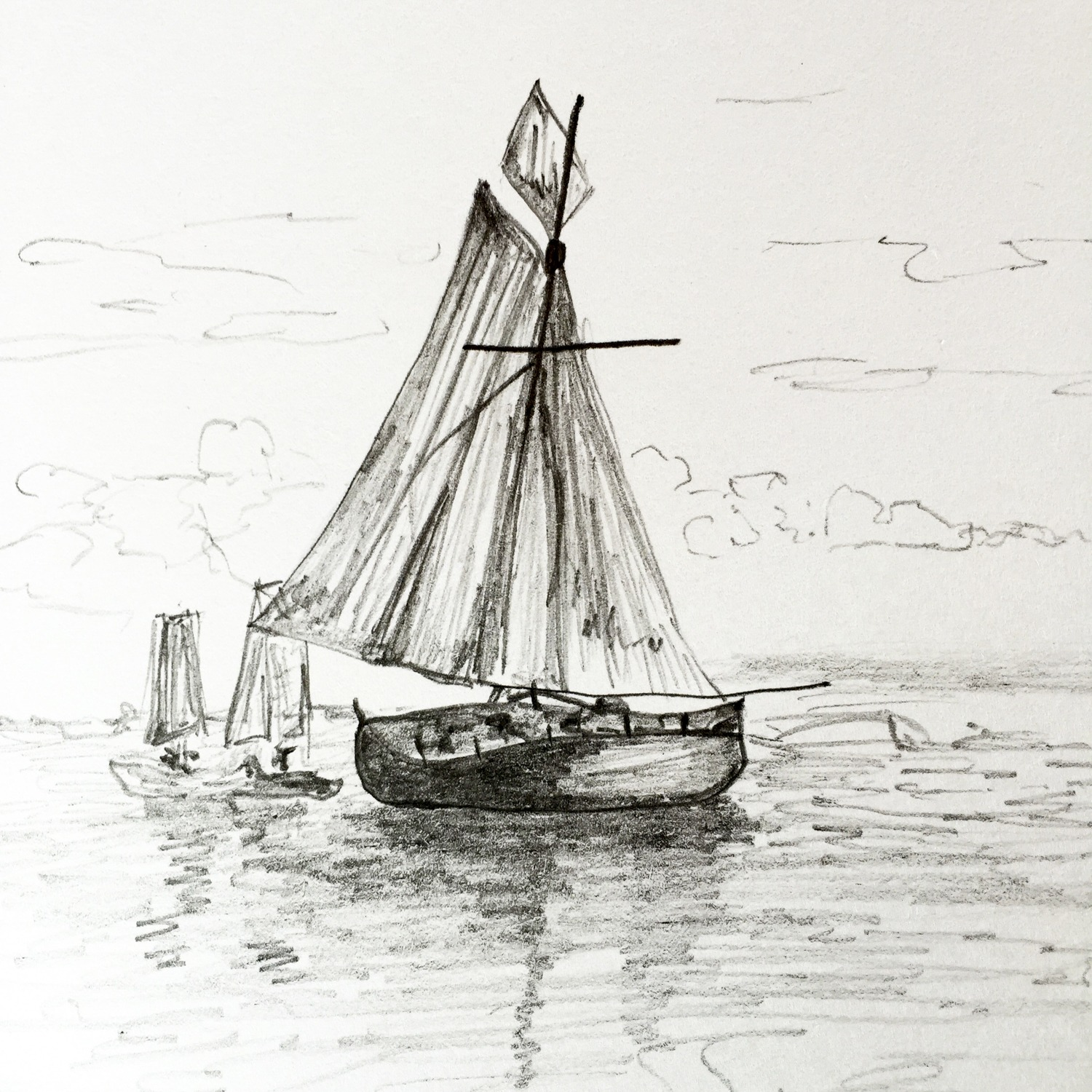Sailboat Pencil Drawings