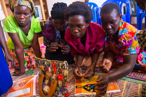 Ugandan women learn how to sew